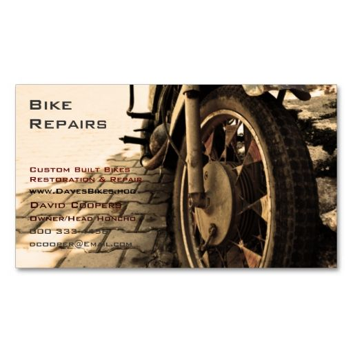 Vintage Motorcycle Business Card Zazzle Com Motorcycle Business Cards Vintage Business Cards Template Business Cards