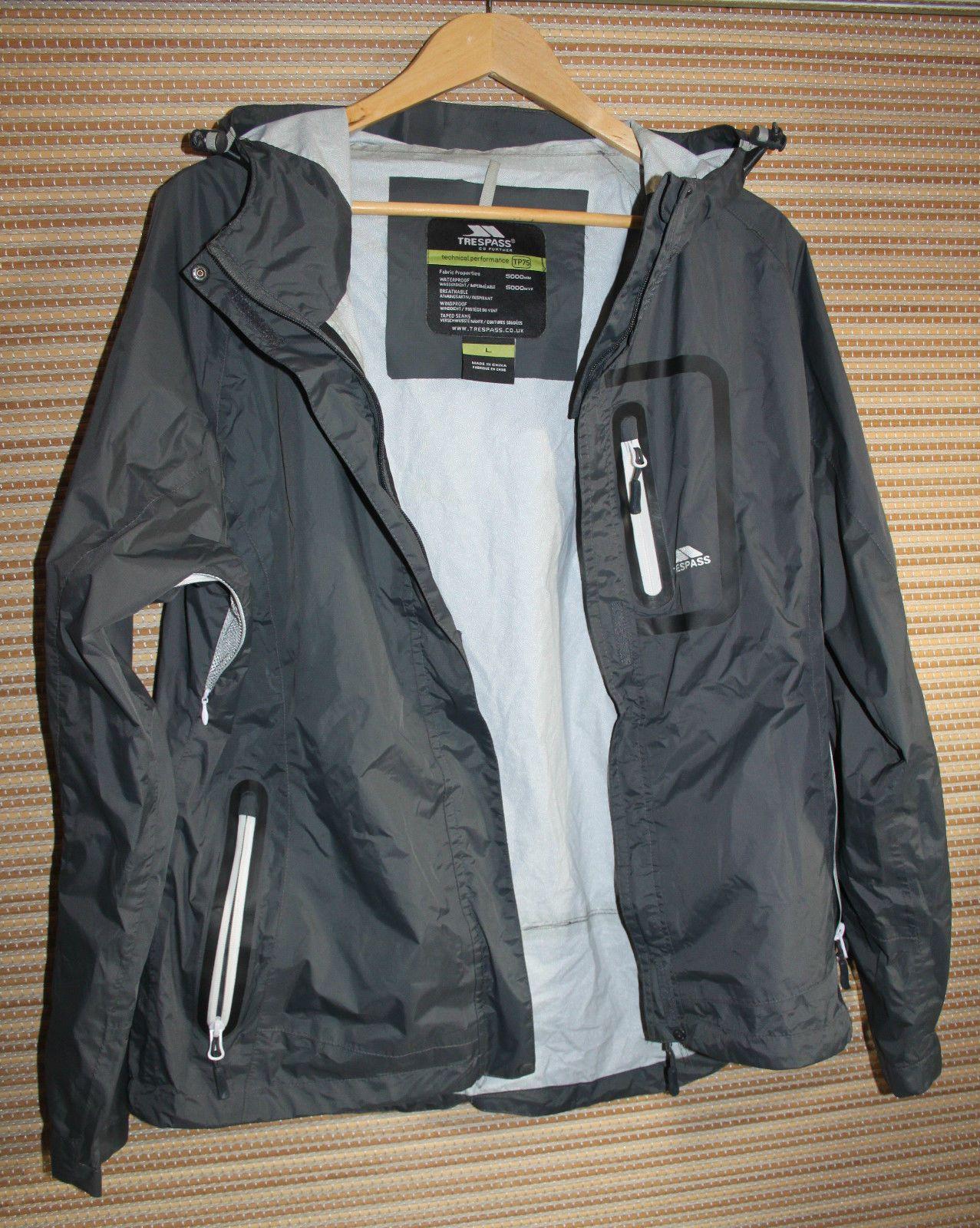 b8e0d9c644 Trespass Nantai Ladies Go Further Grey Tres-Tex TP75 Waterproof Jacket Size  L in Clothes