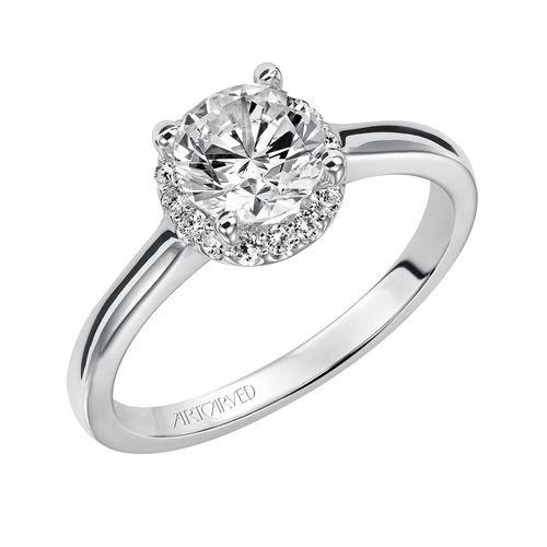 07c30d2dc26 Shop online ArtCarved 31-V325ERW-E Side Stone White Gold Diamond Engagement  Ring at Arthur