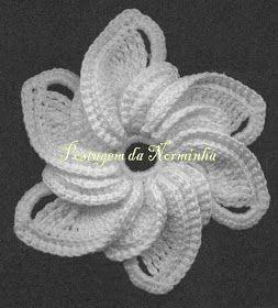 Ponto Preso1: Croche - Uma BELA FLOR . . .