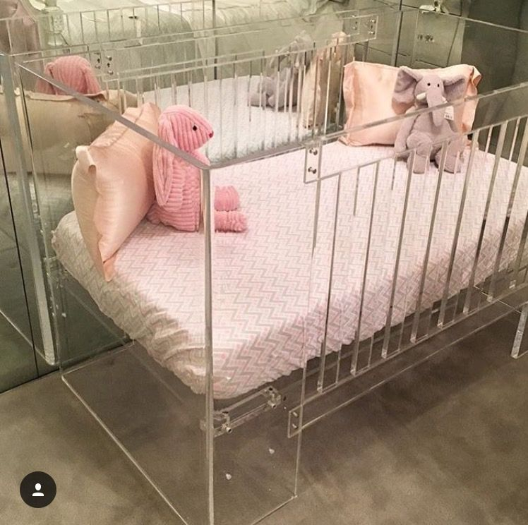 Acrylic Crib Cribs Baby Bed Kids Bedroom
