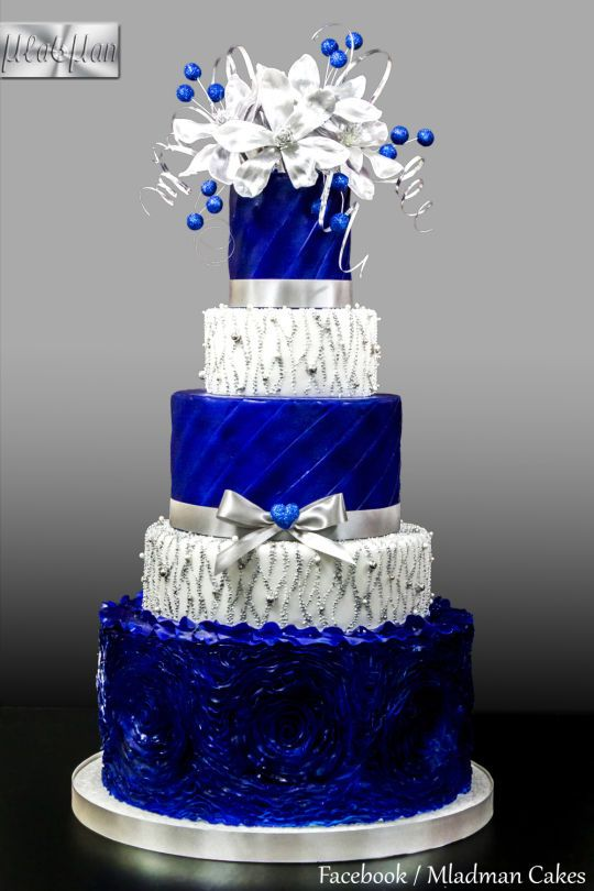Royal Blue Silver Wedding Cake Wedding Cakes Blue Royal Blue Wedding Cakes Silver Wedding Cake