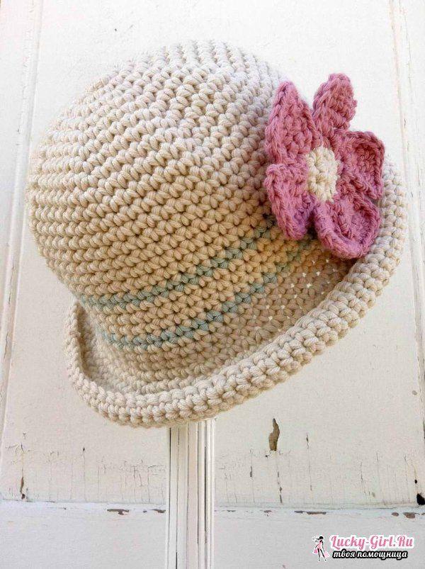 Простая шляпка крючком схема фото 854