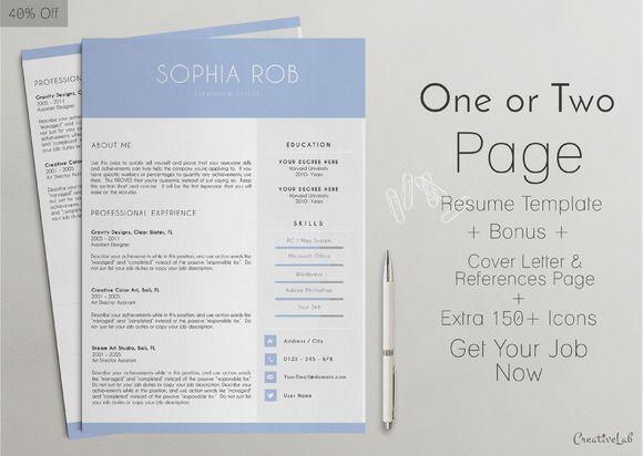 Professional Resume Template Pinterest Professional resume
