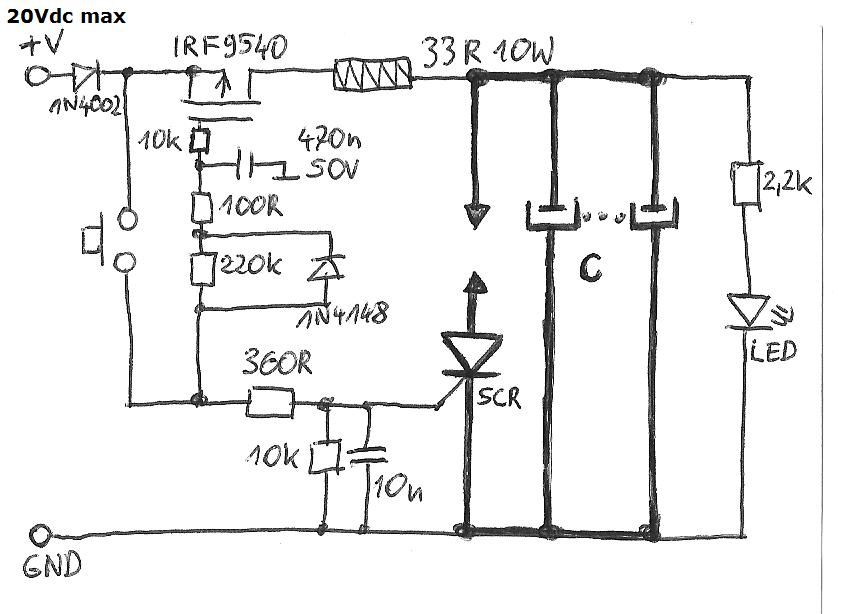 Simple Capacitor Spot Welder Spot Welder Welders Capacitors