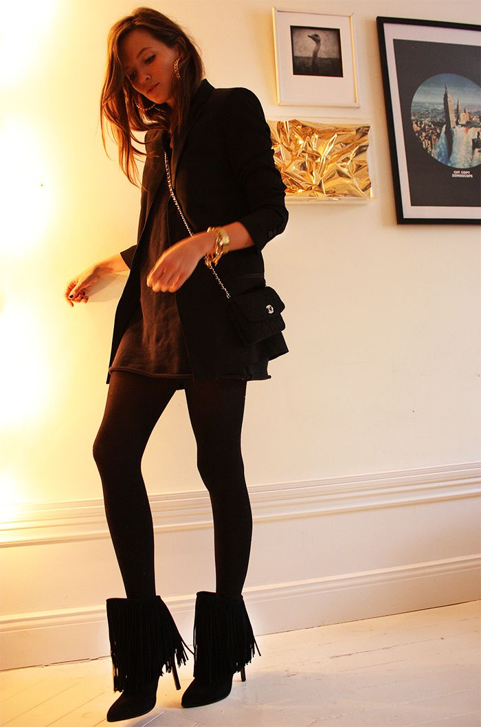 Lady in black..