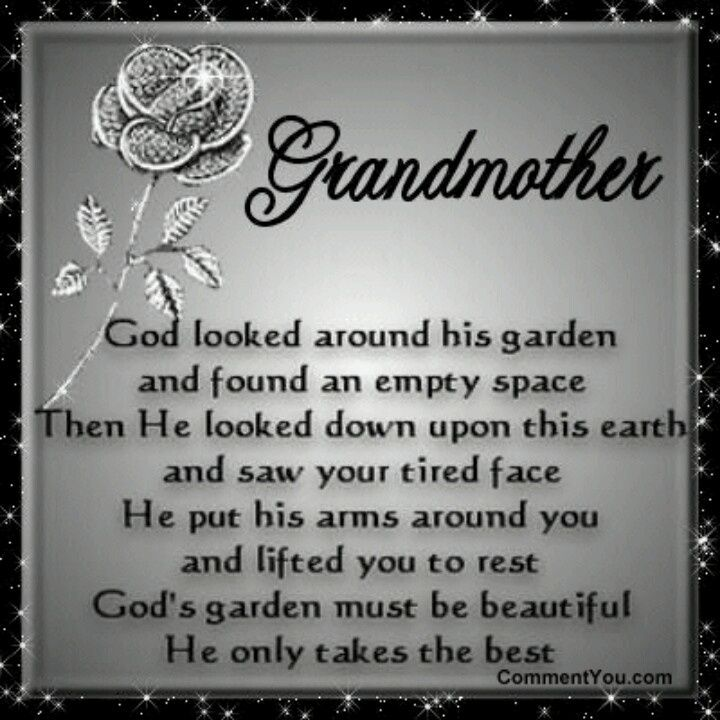 Poems From Grandma In Heaven Grandma Loverd Flower I Think This Is A Good Tattoo Memorial Quote