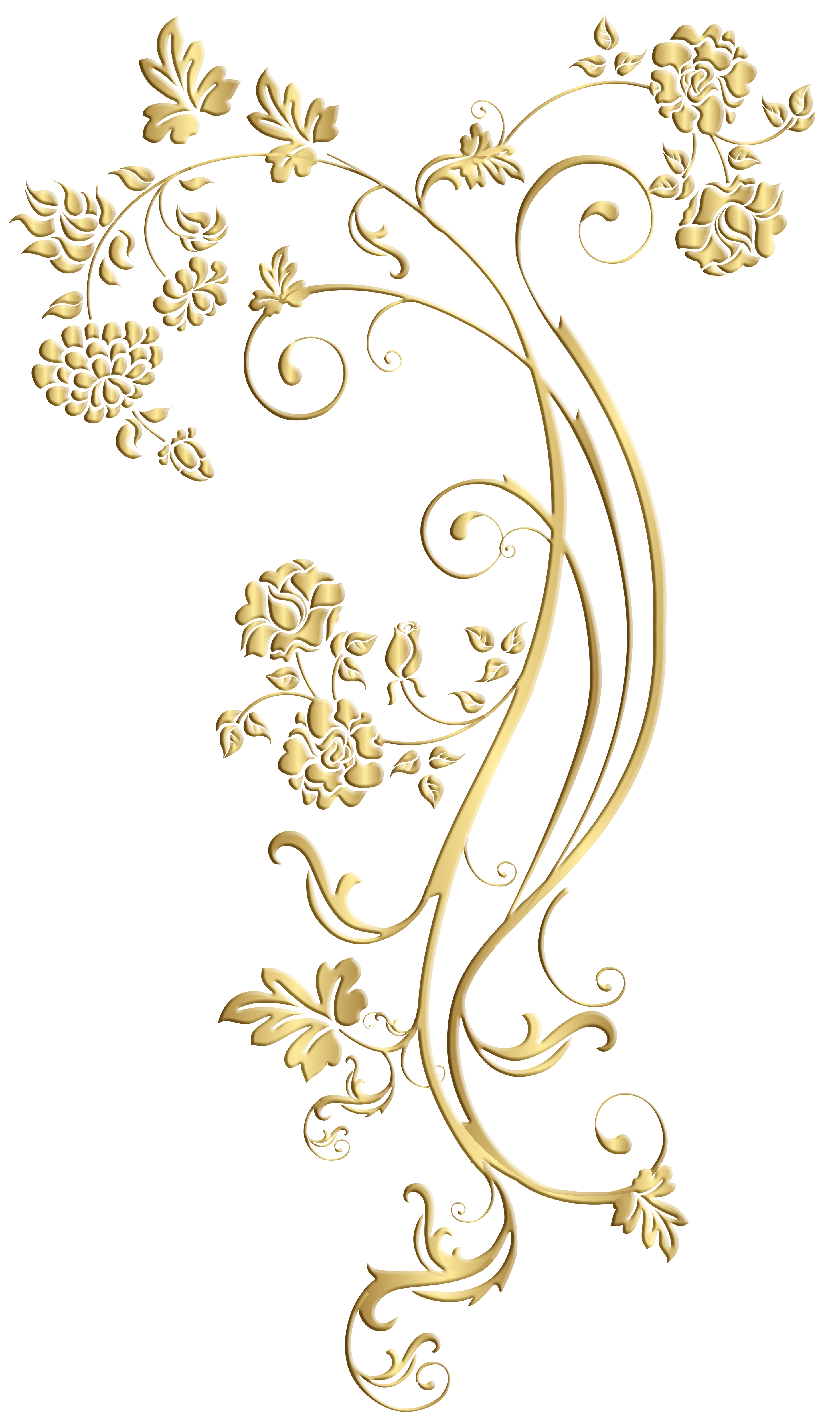 Gold Floral Ornament Frame Clip Art Image Gallery Yopriceville High Quality Images And Transparent Png Fre Ornament Frame Digital Flowers Baroque Ornament