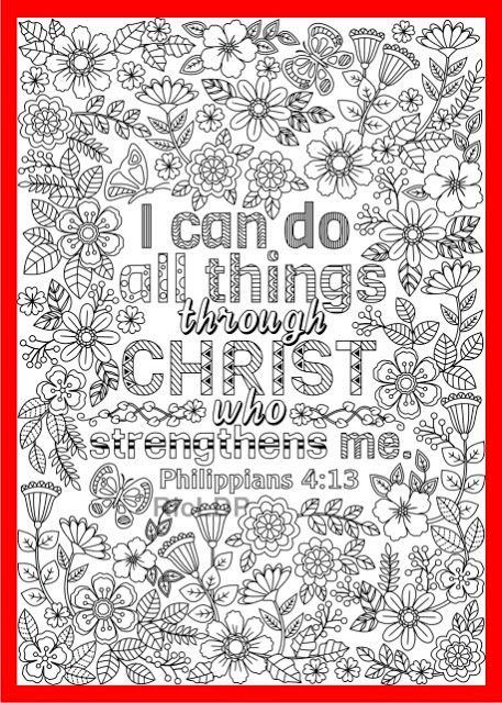 i can do all things through christ coloring page #philippians ...