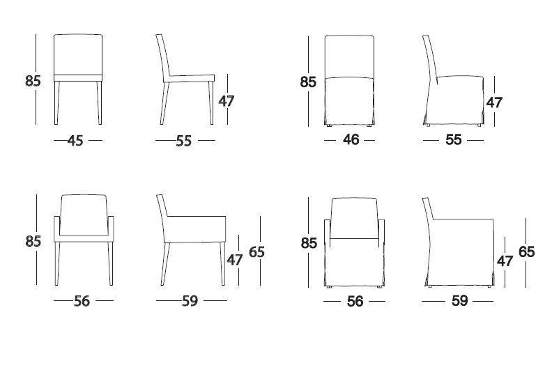 dibujar silla comedor en plano