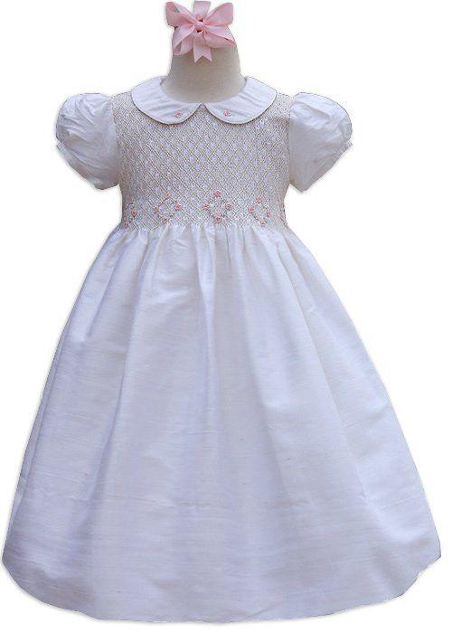 b8320b1b0 This beautiful off white silk flower girl dress is pure silk ...