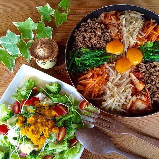 熱々がおいしい♫ インスタでも人気の「フライパンビビンバ」を作ろう - macaroni