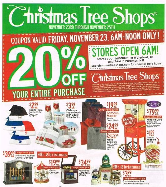 christmas tree shop ad