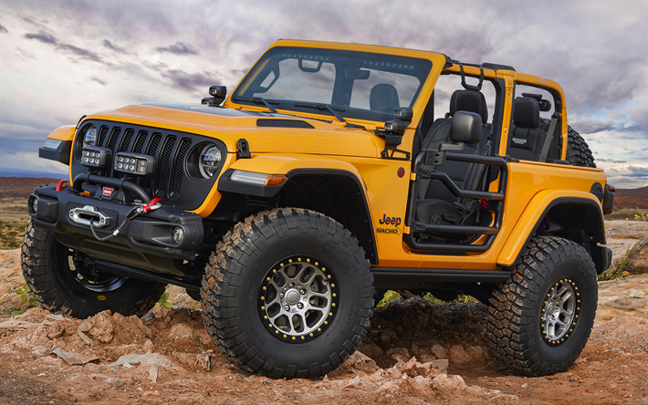 Download Wallpapers Jeep Wrangler Nacho Concept Offroad 2019