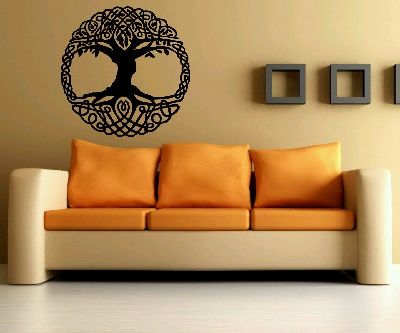 Celtic Irish Tree of Life Room Wall Decal Decor StickerAbstract