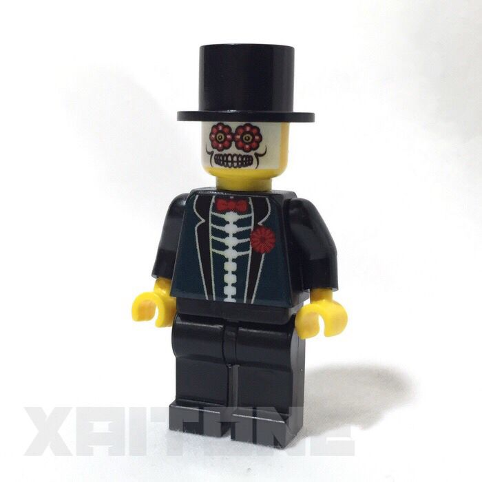 Custom Day of the Dead Lego Minifigure available on Etsy!  #dayofthedead #halloween #lego #minifigure #minifig #diadelosmuertos