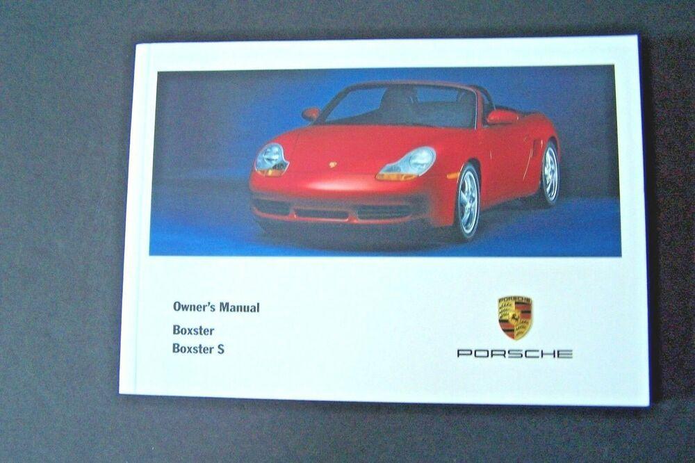 Porsche Boxster Owners Manual 2000 Book Convertible Handbook Guide