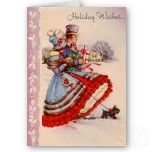 Old Fashioned Christmas Shopping Note Card