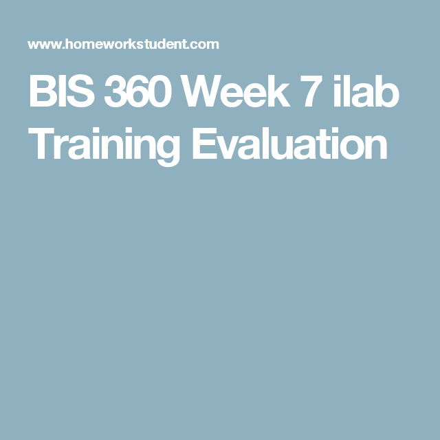 Bis  Week  Ilab Training Evaluation  Bis