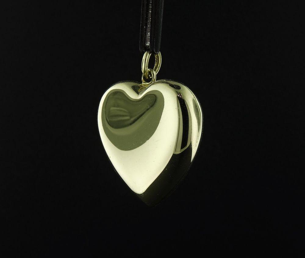 b83672127 Authentic Retired 14k Tiffany & Co. 14k Yellow Gold Heart Locket 10g 1