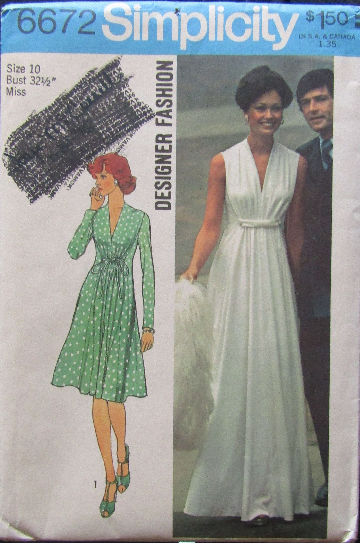 Simplicity 6672 Misses Dress Sewing Pattern Uncut By Simpsondesignsstudio On Etsy Vintage Dress Patterns Girlie Style School Event Dress