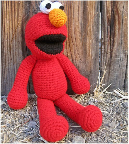 Elmo Toy Free Crochet Pattern Amigurumi Toys Free Pinterest