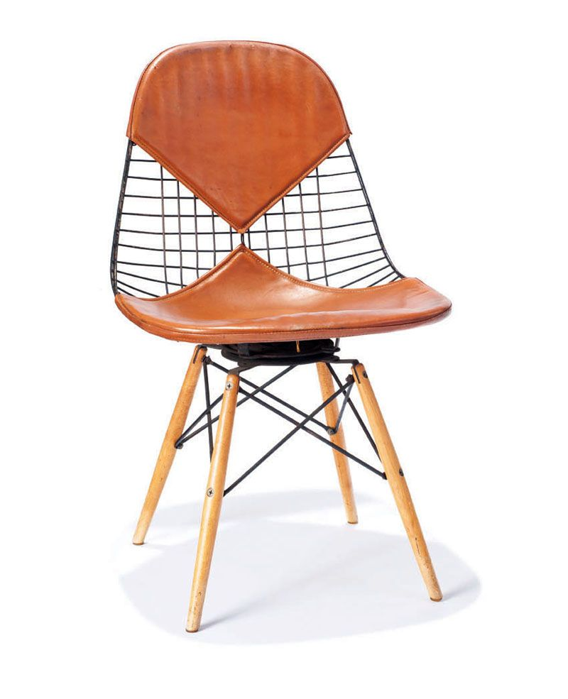 Superieur Charles U0026 Ray Eames Wire Mesh Chair With Dowel Legs
