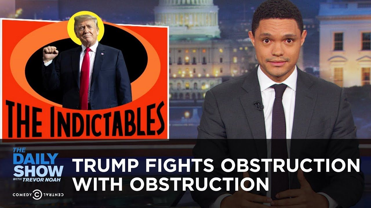 Trump Fights Obstruction With Obstruction The Daily Show The Daily Show Alternative Facts Comedians
