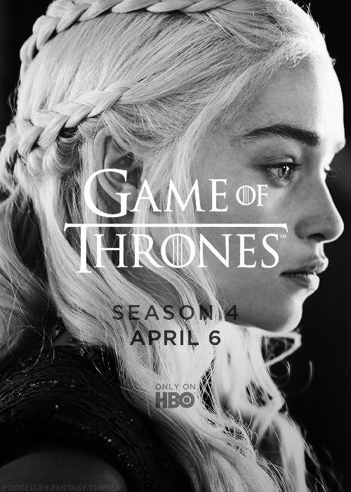 Daenerys Targaryen ~ Season 4 ~ Game of Thrones. Cannot wait for season four