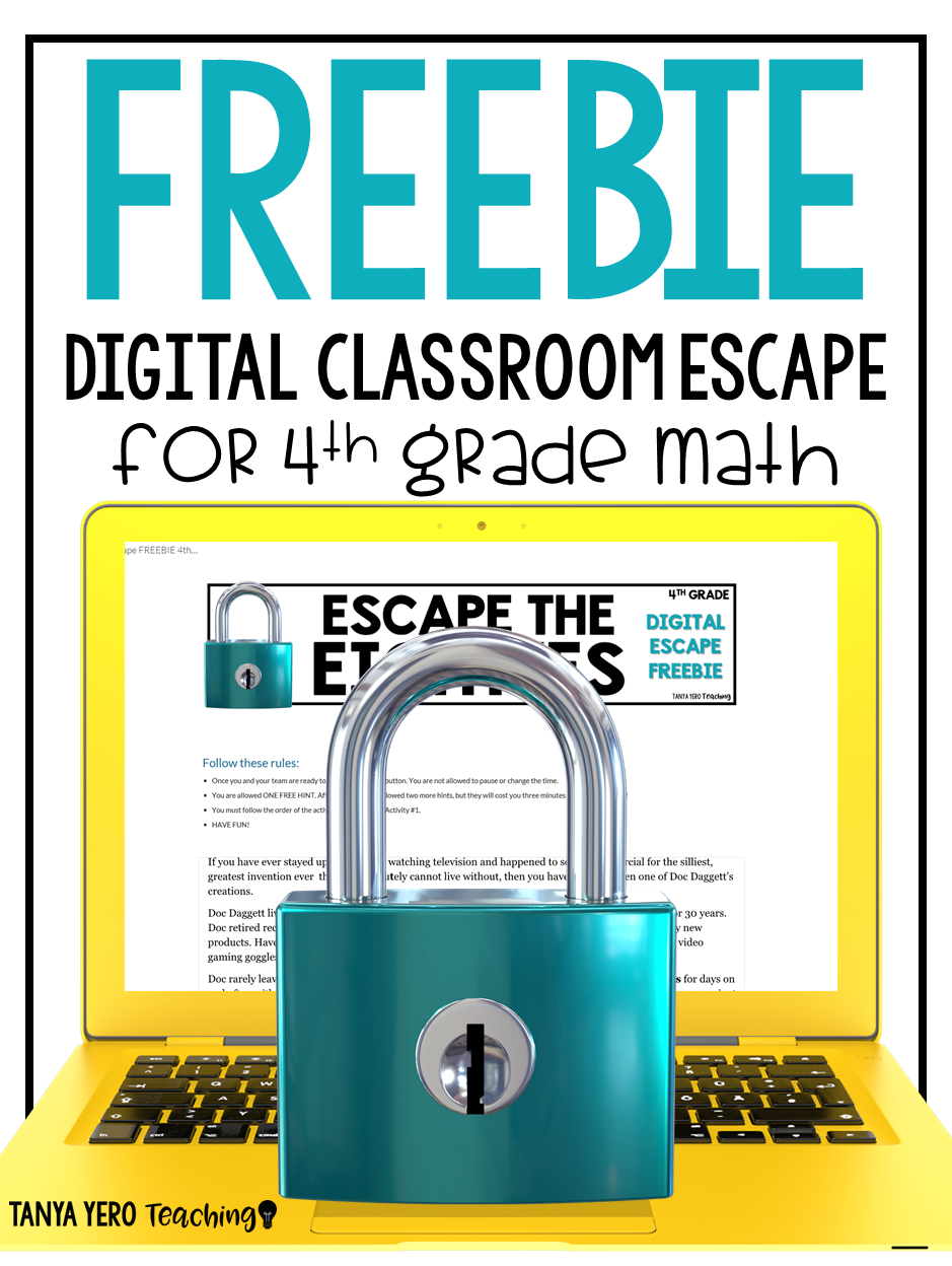 Math Digital Classroom Escapes Are Interactive Activities Which Promotes Peer Collaboration And Google Classroom Math 4th Grade Math Classroom Games Elementary
