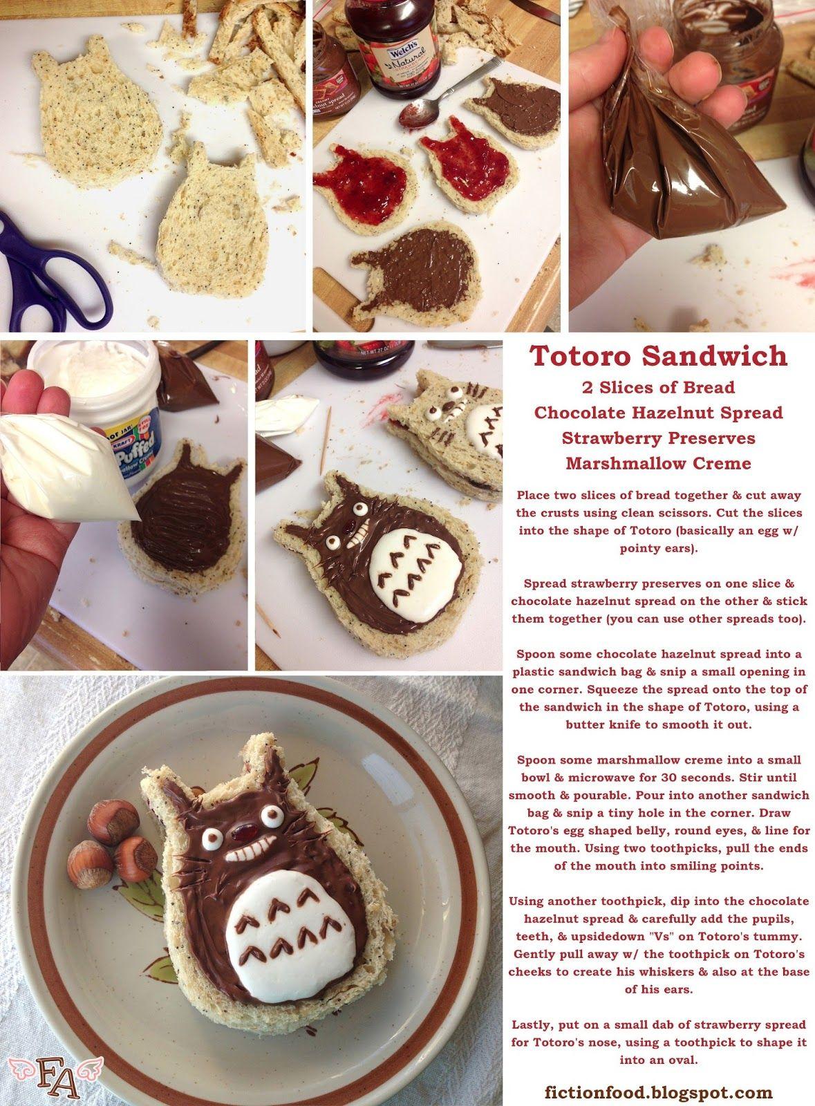 "Food Adventures (in fiction!): Totoro Dessert Sandwich for ""My Neighbor Totoro"""