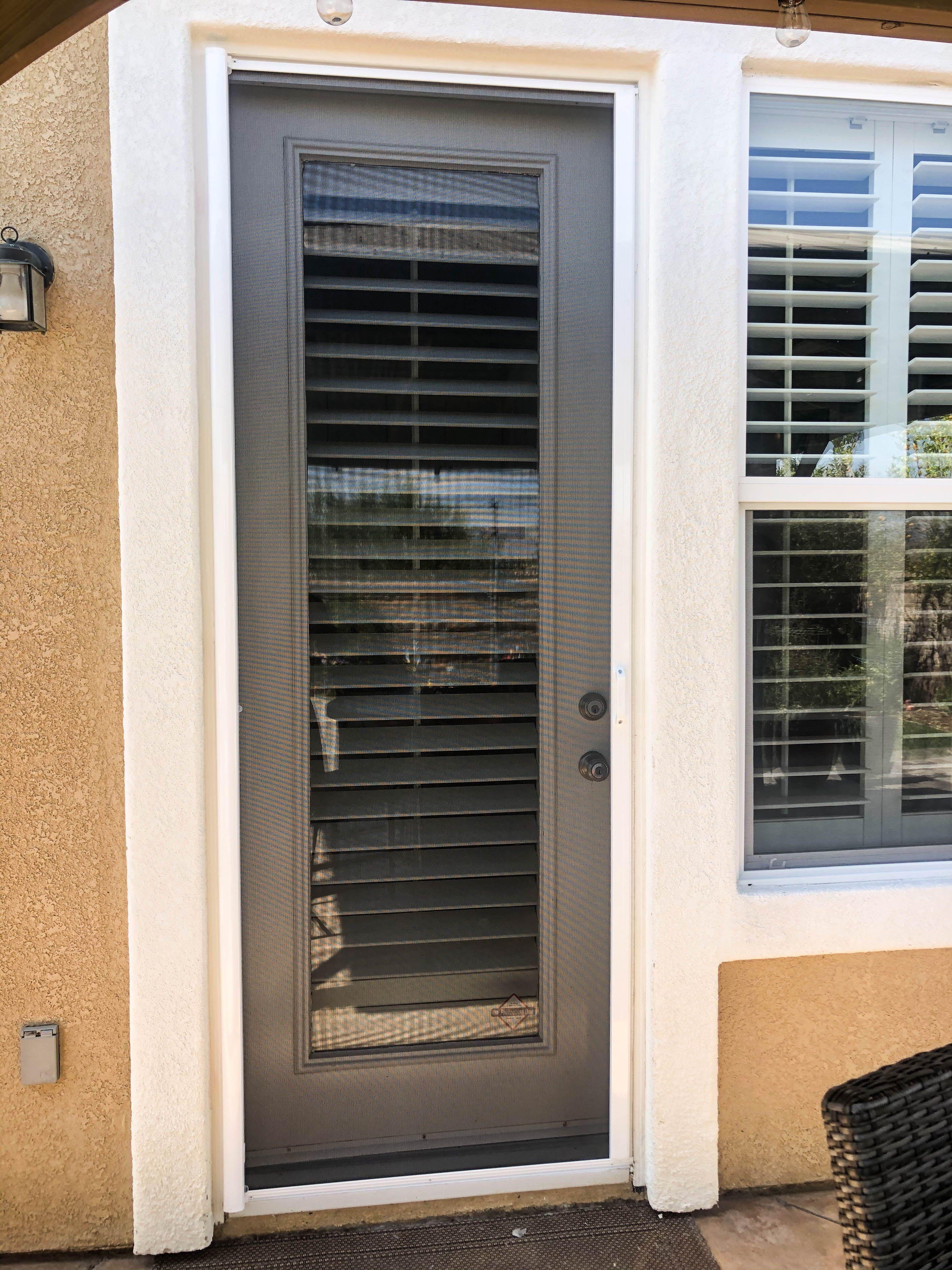 Single Door Retractable Screen in Simi Valley, California