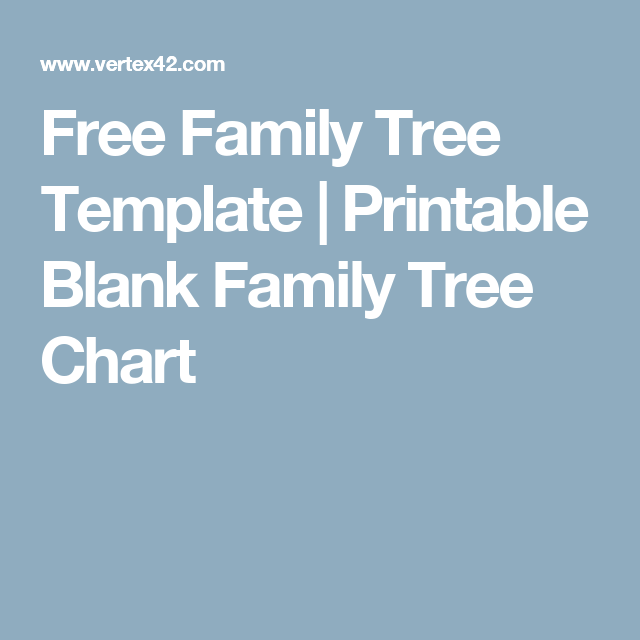 free online family tree template