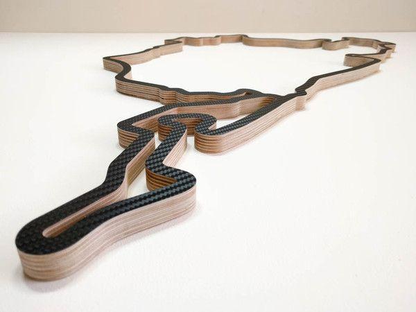 Nurburgring Car Exhibition Design Sculpture Art Wooden Wall Art