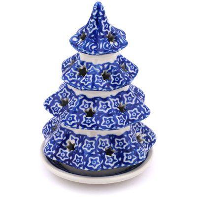 Polish Pottery 6 Inch Christmas Tree Candle Holder Boleslawiec Stoneware Polmedia H4317g Christmas Tree Candles Christmas Tree Candle Holder Polish Pottery