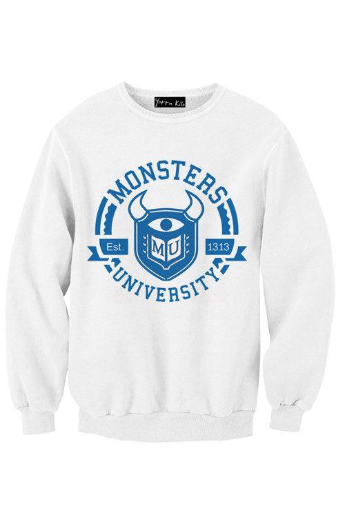 Monster University Sweatshirt | Hoodies. | Pinterest