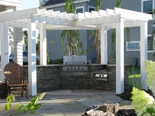 Outdoor Kitchen Pergola Cost