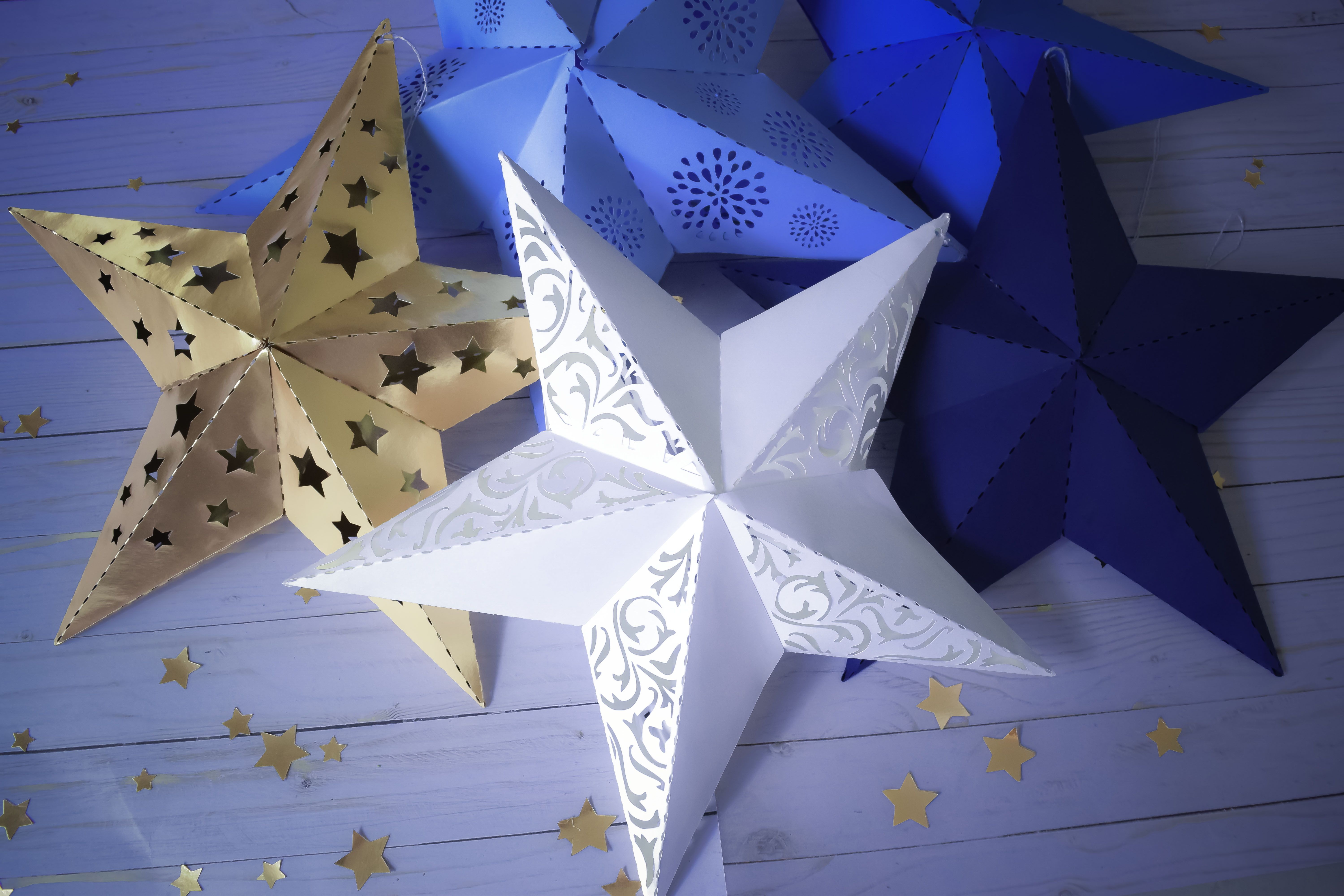 3d Paper Star Template Paper Star Instructions And Free Template Paper Star Lanterns 3d Paper Star Paper Stars