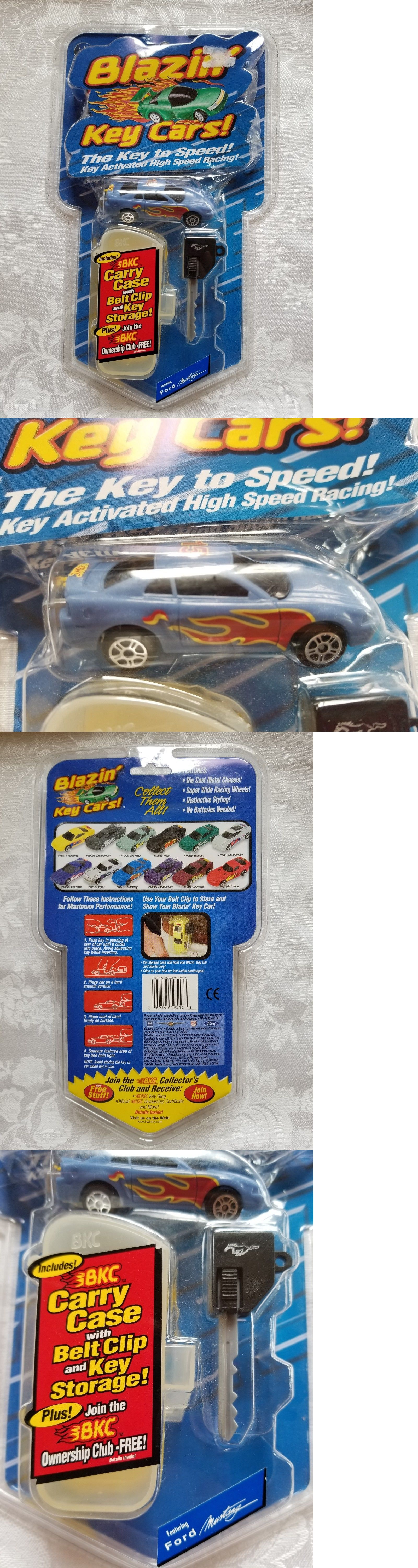 Toys car keys  Blazinu Key Cars Irwin Toys Blue Ford Mustang with Carry Case