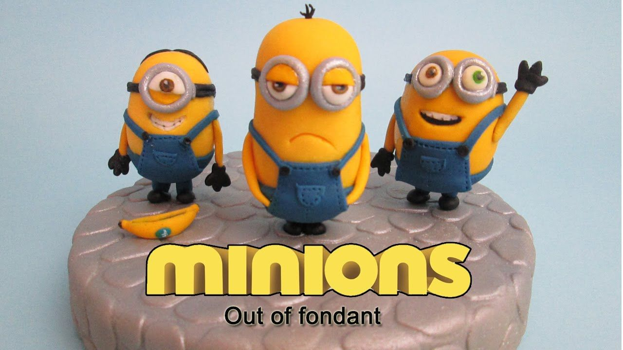 Incredible How To Make Minions Out Of Fondant Cake Topper Taart Fondant Personalised Birthday Cards Cominlily Jamesorg