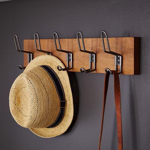 Industrial Hook Rack Industrial Coat Rack Hook Rack West Elm