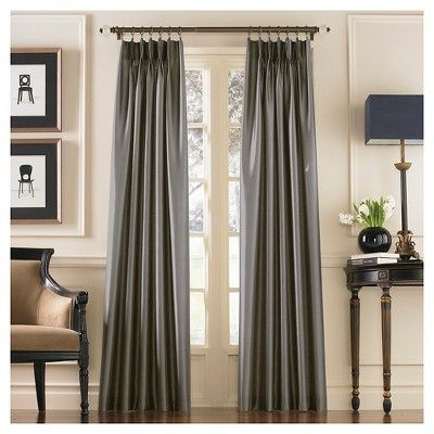 144 X30 Marquee Lined Room Darkening Curtain Panel Gray