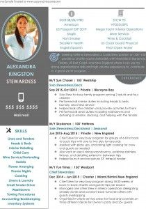 Stewardess Resume Sample | Stewardess Resume Sample 1 Job And Interview Tips For Yacht Crew