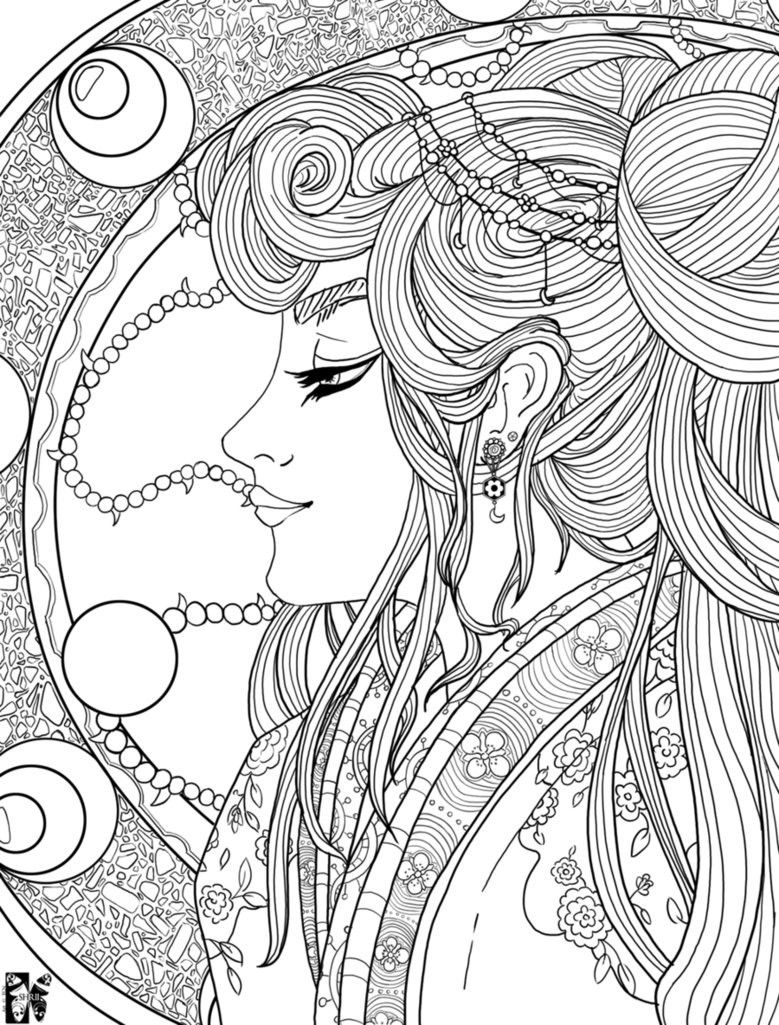 Complicated Flower Coloring Sheets For Girls Plicated Coloring Pages Bestofcoloring Coloring Pages Flower Coloring Sheets Coloring Books