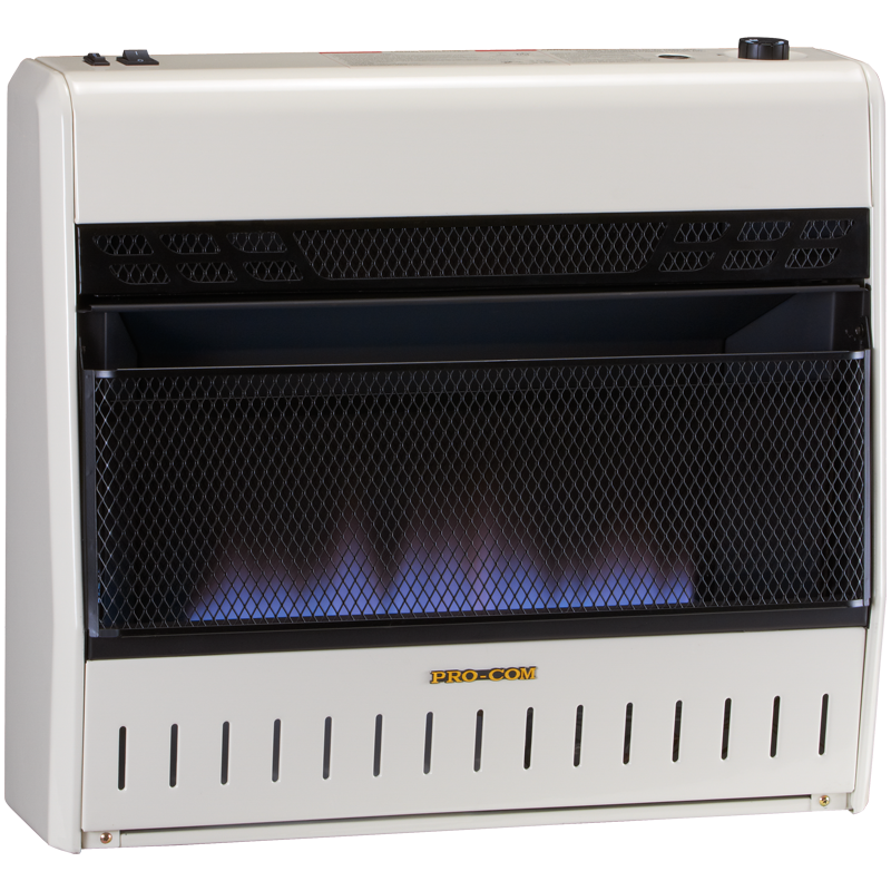 Procom S Trifuel Space Heater Uses Natural Gas Or Liquid Propane With A Built In Electric Heater And Fan To Create 30 000 Blue Flames Propane Heater Free Gas