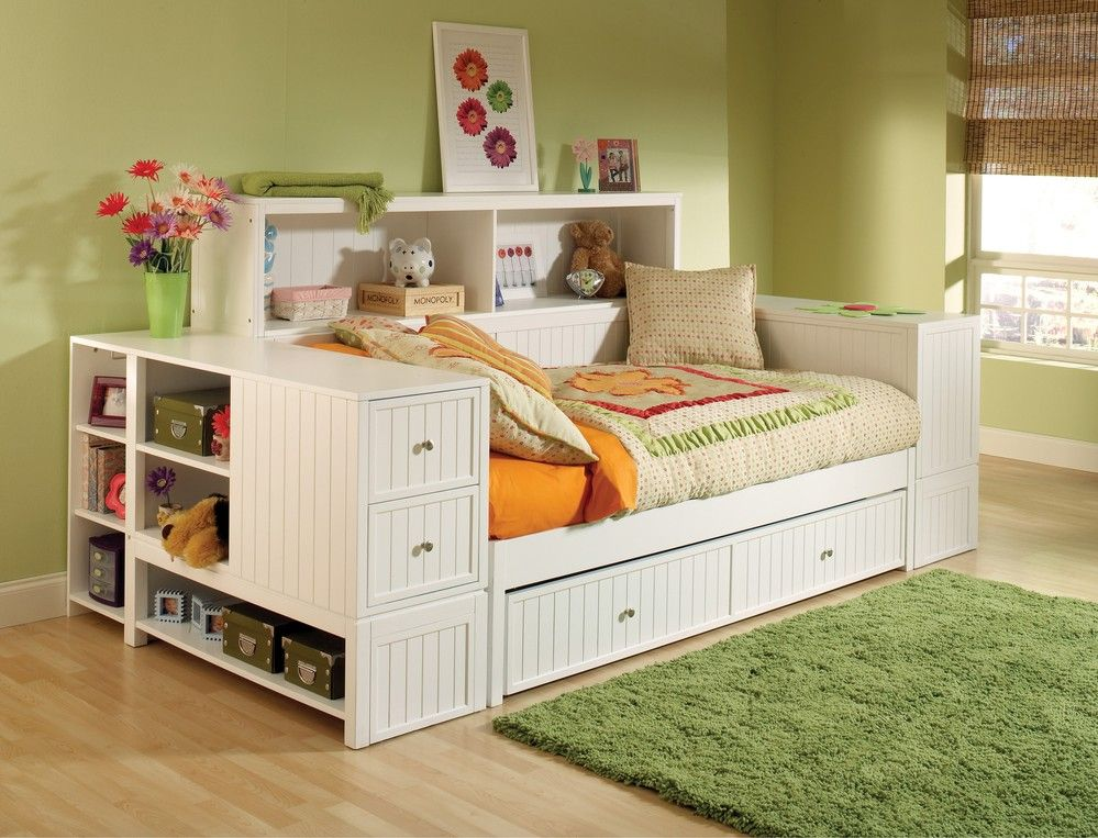 Cody Bookcase Daybed With Trundle Storage Drawer Hilale Furniture 1604dbtbd Day Bed