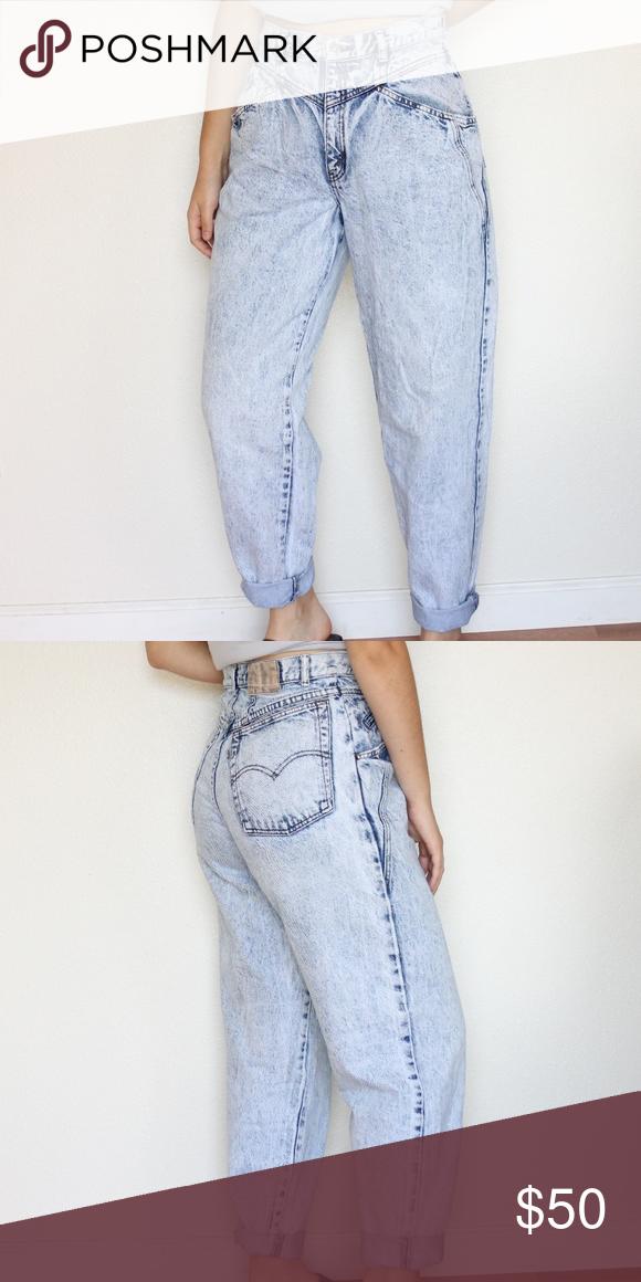 50559f9f Vintage Levi's Mom Jeans 80s vintage light wash/acid wash mom jeans. in  excellent