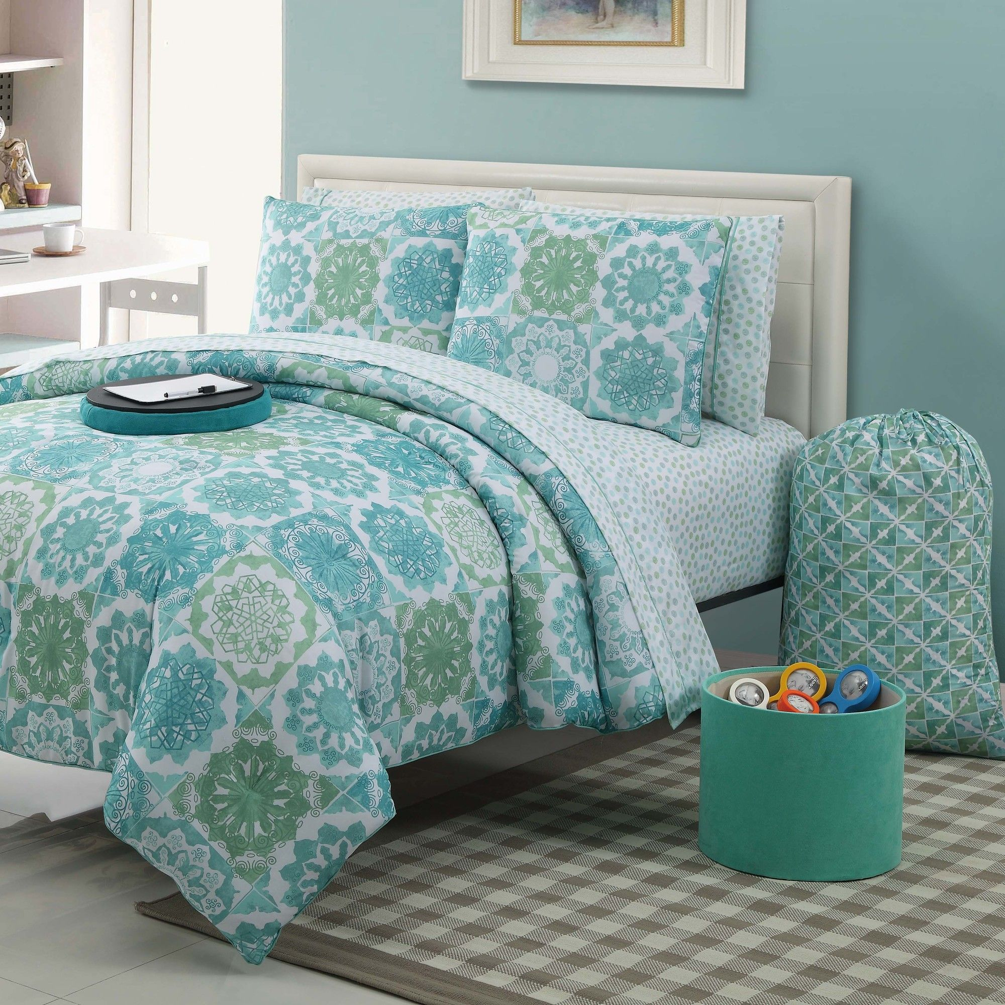 Blue And Green Comforter Sets