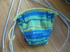 Ravelry: Toe up sock on two circular needles pattern by ...