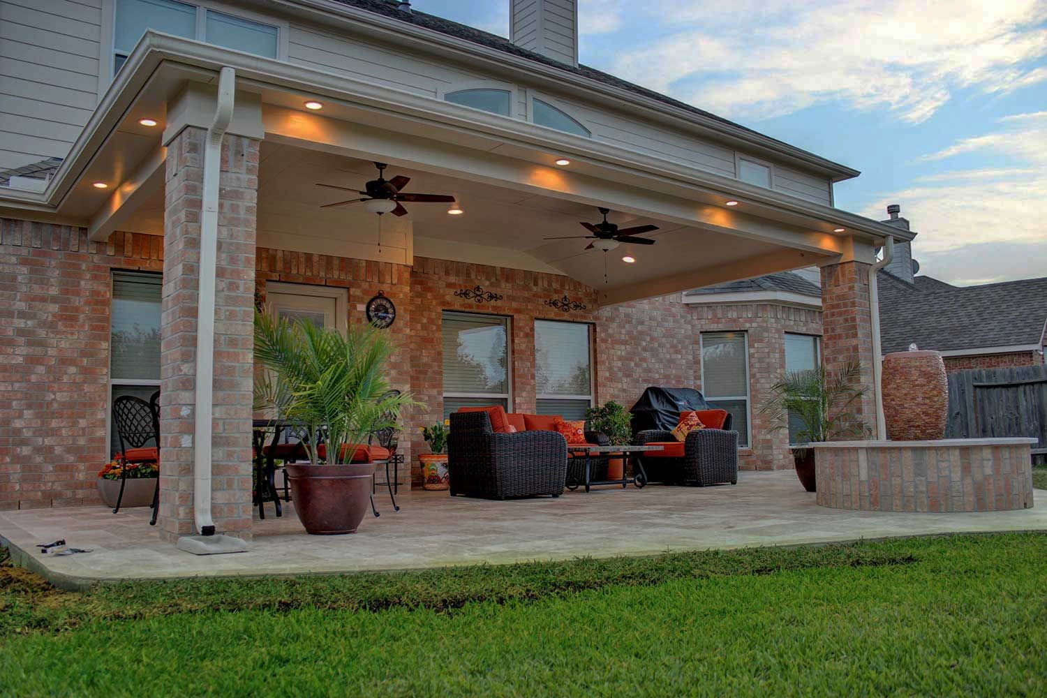 Stylish Ways to Decorate l shaped covered patio ideas on ... on L Shaped Backyard Ideas id=76987